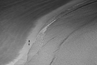 Alone on the beach in Donostia